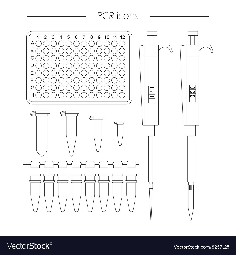 Pcr icons vector image
