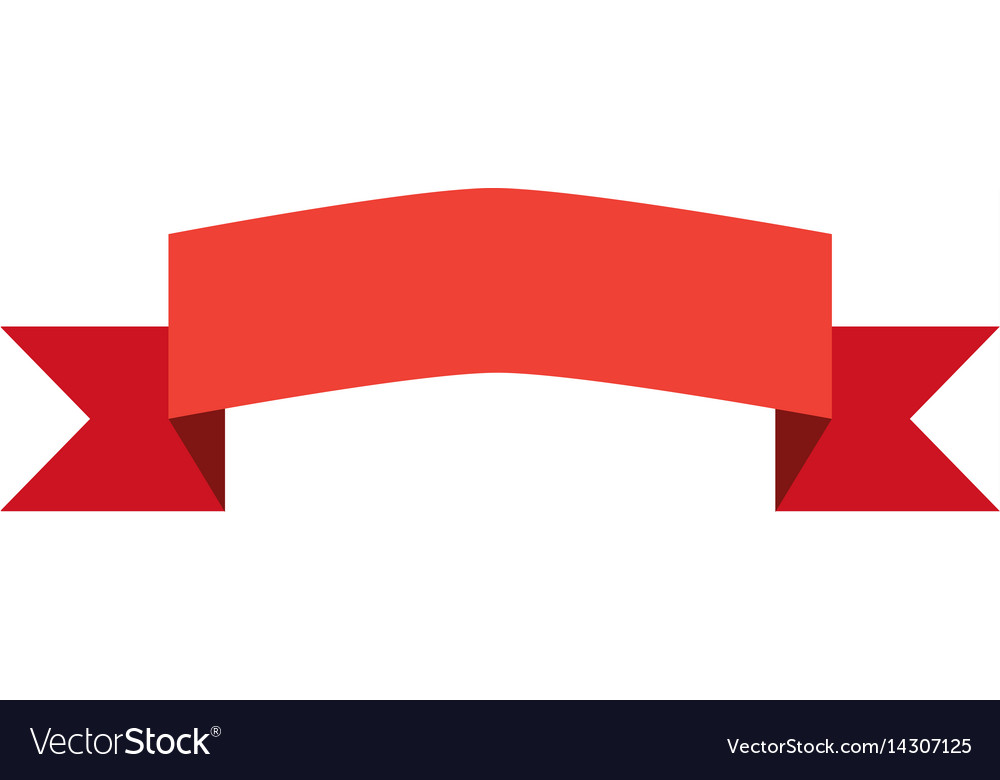 Red banners and bibbons on white background red vector image