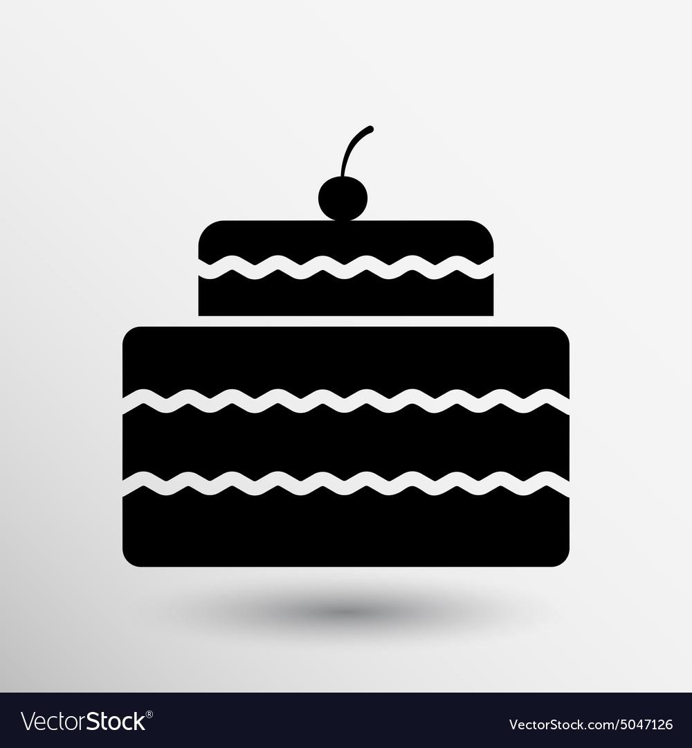 Cake design symbol logo dessert food sweet vector image cake design symbol logo dessert food sweet vector image biocorpaavc