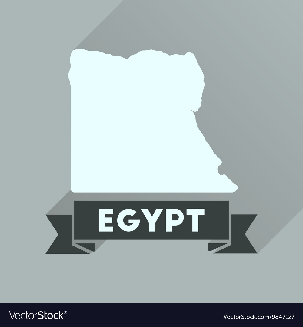 Flat Icon With Long Shadow Map Of Egypt Royalty Free Vector - Map of egypt vector free