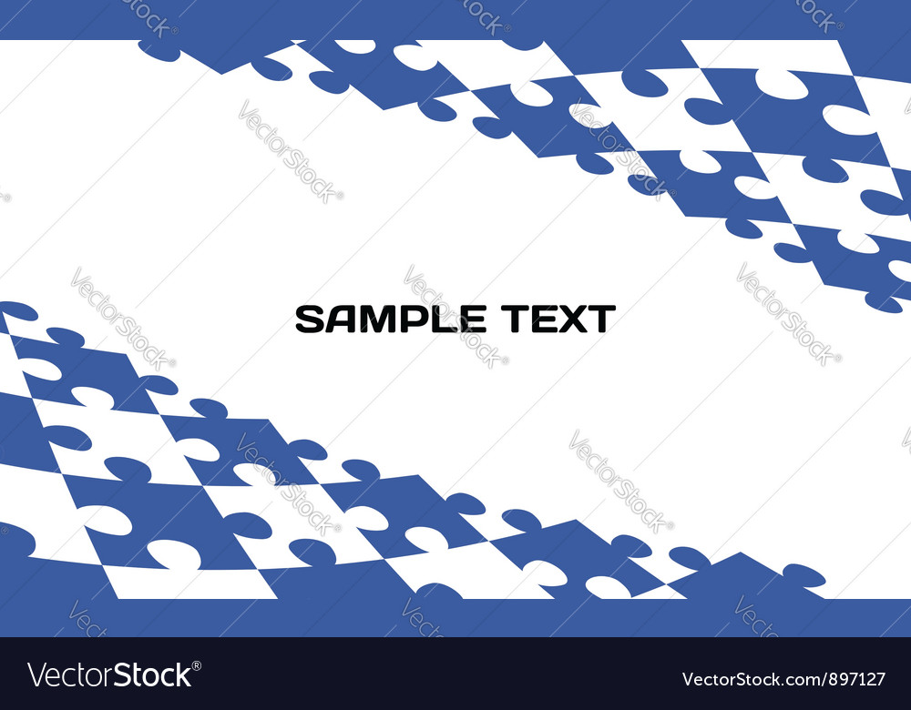 Puzzle template background vector image