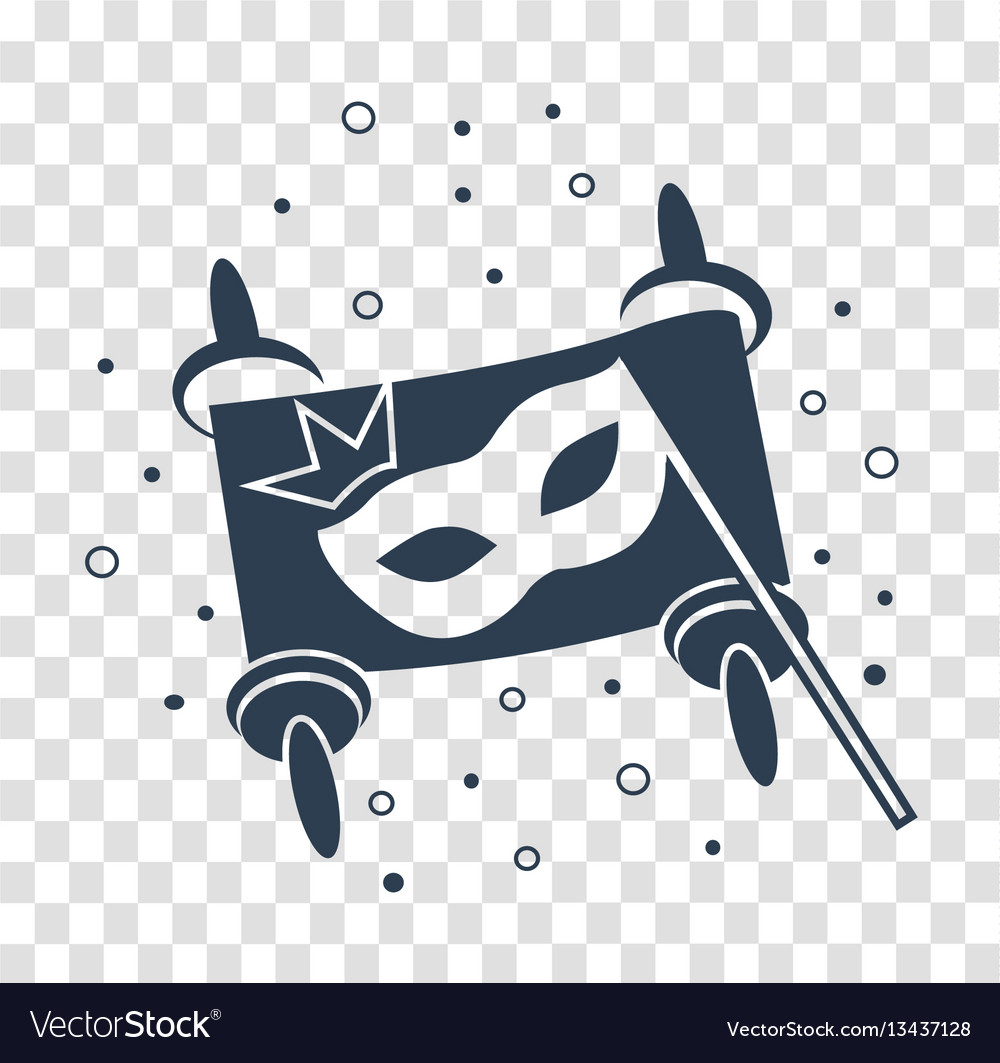Concept of purim as scroll black vector image