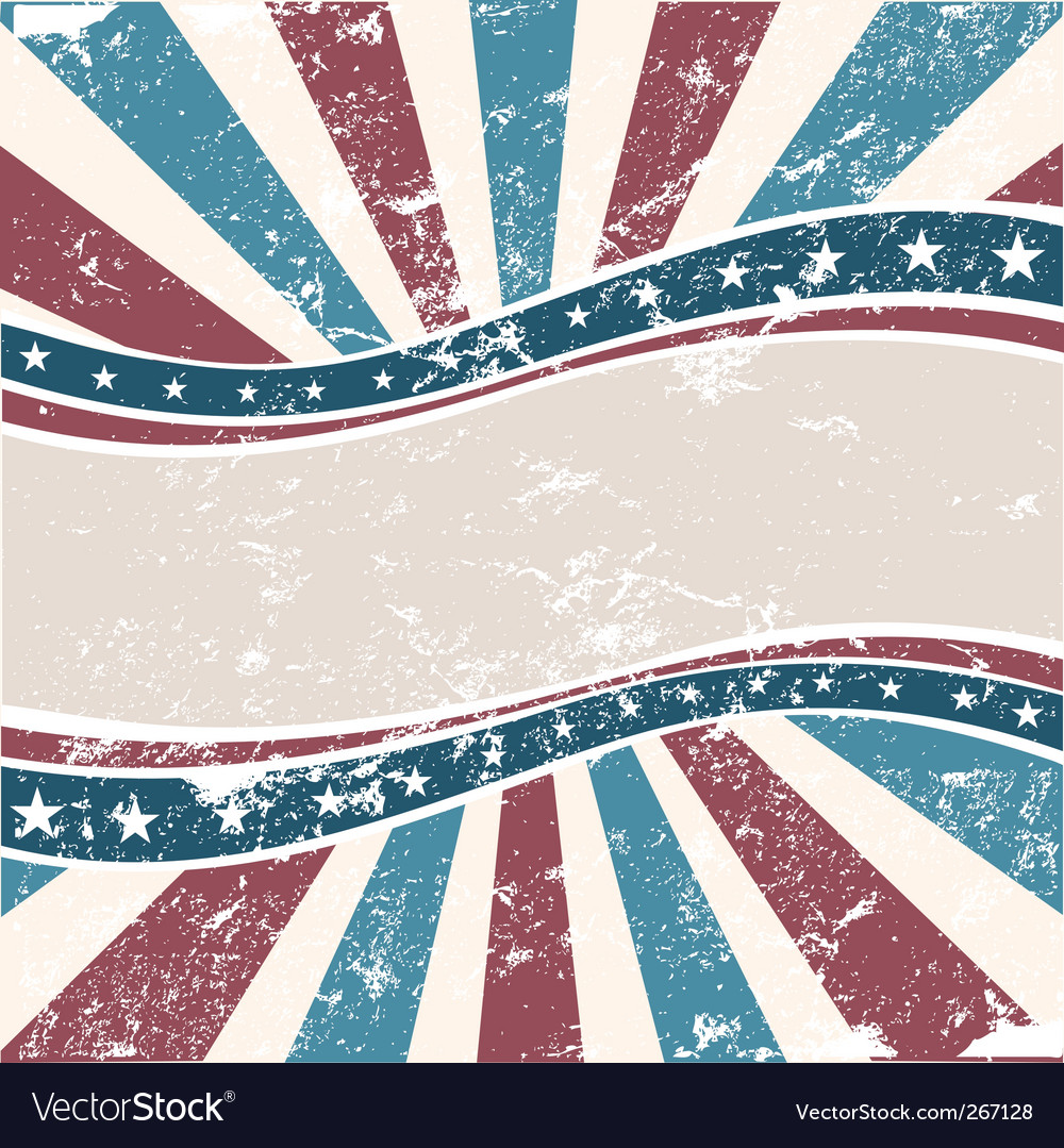 Old American wave background grunge vector image