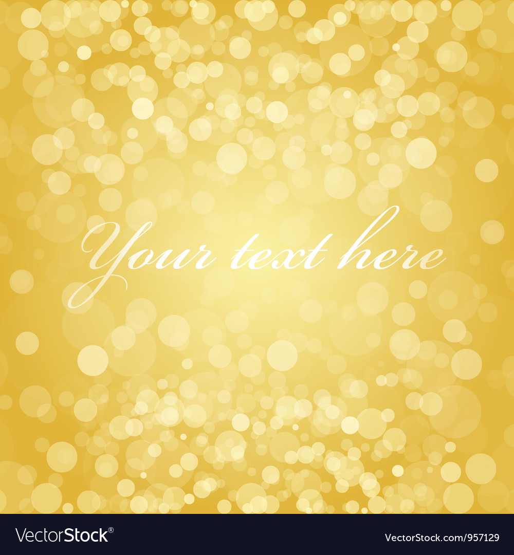 Gold blur background Vector Image