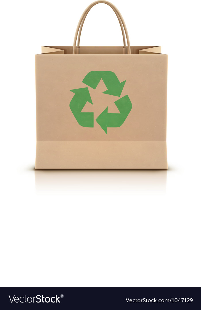 Paper shopping bag vector image