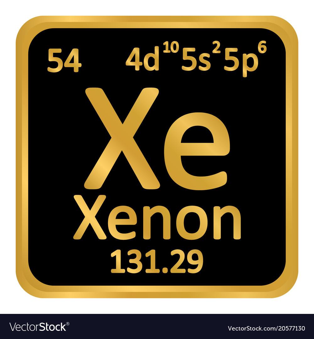 Periodic table element xenon icon royalty free vector image periodic table element xenon icon vector image urtaz Images