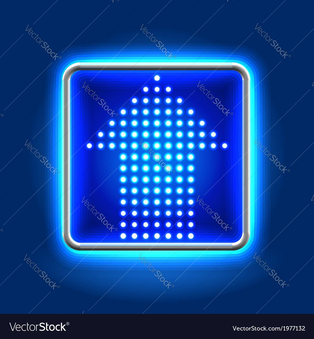 Arrow neon icon vector image