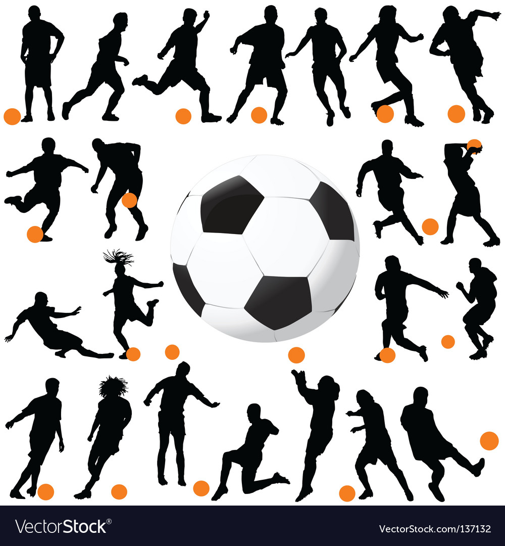Soccer and ball vector image
