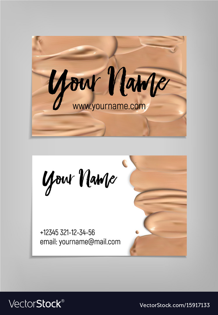 Makeup artist business card template royalty free vector makeup artist business card template vector image alramifo Image collections