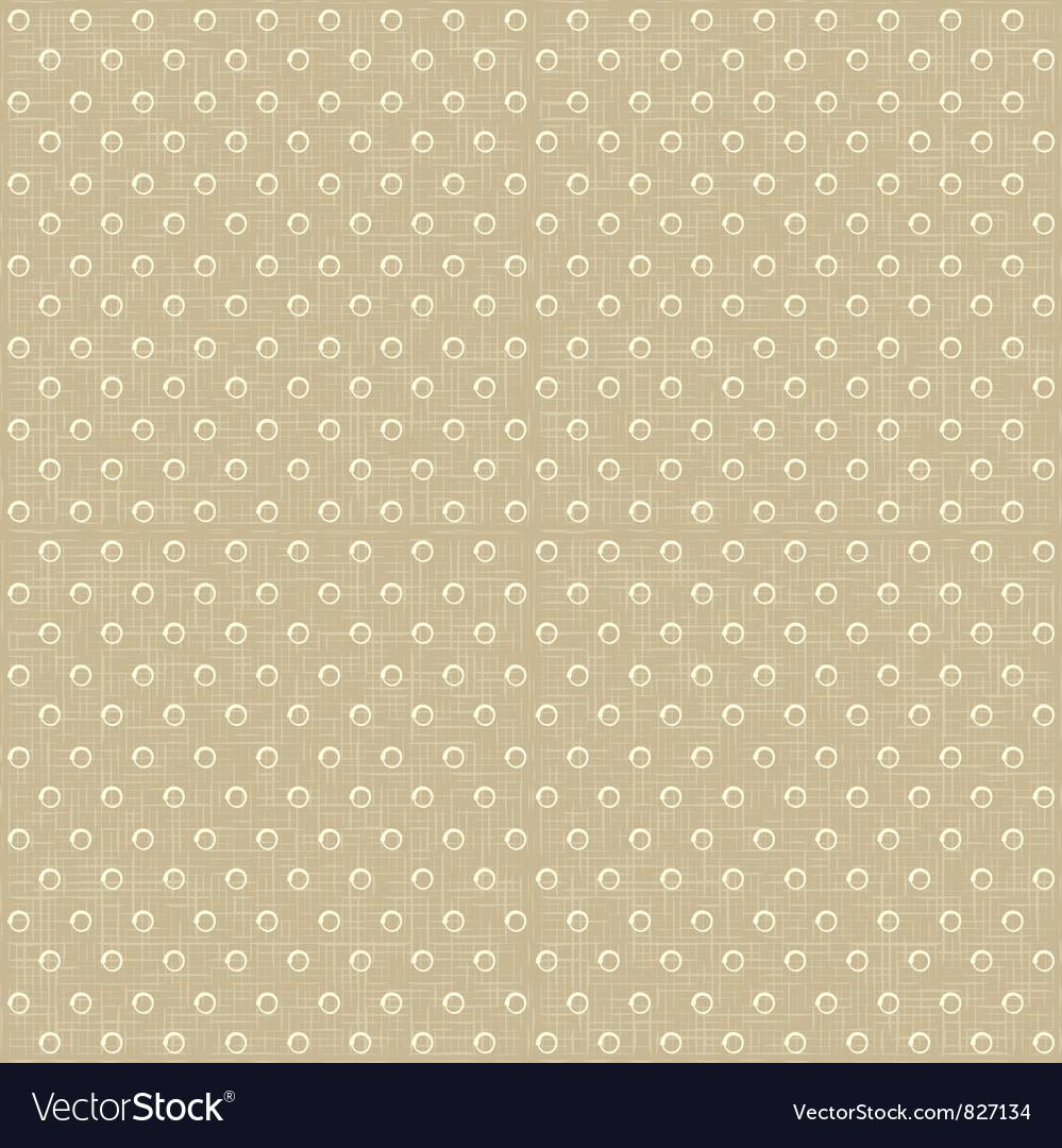Seamless polka dots pattern vector image