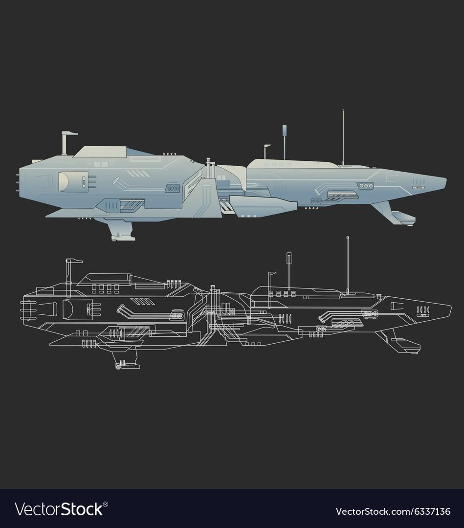 Creative ship design vector image