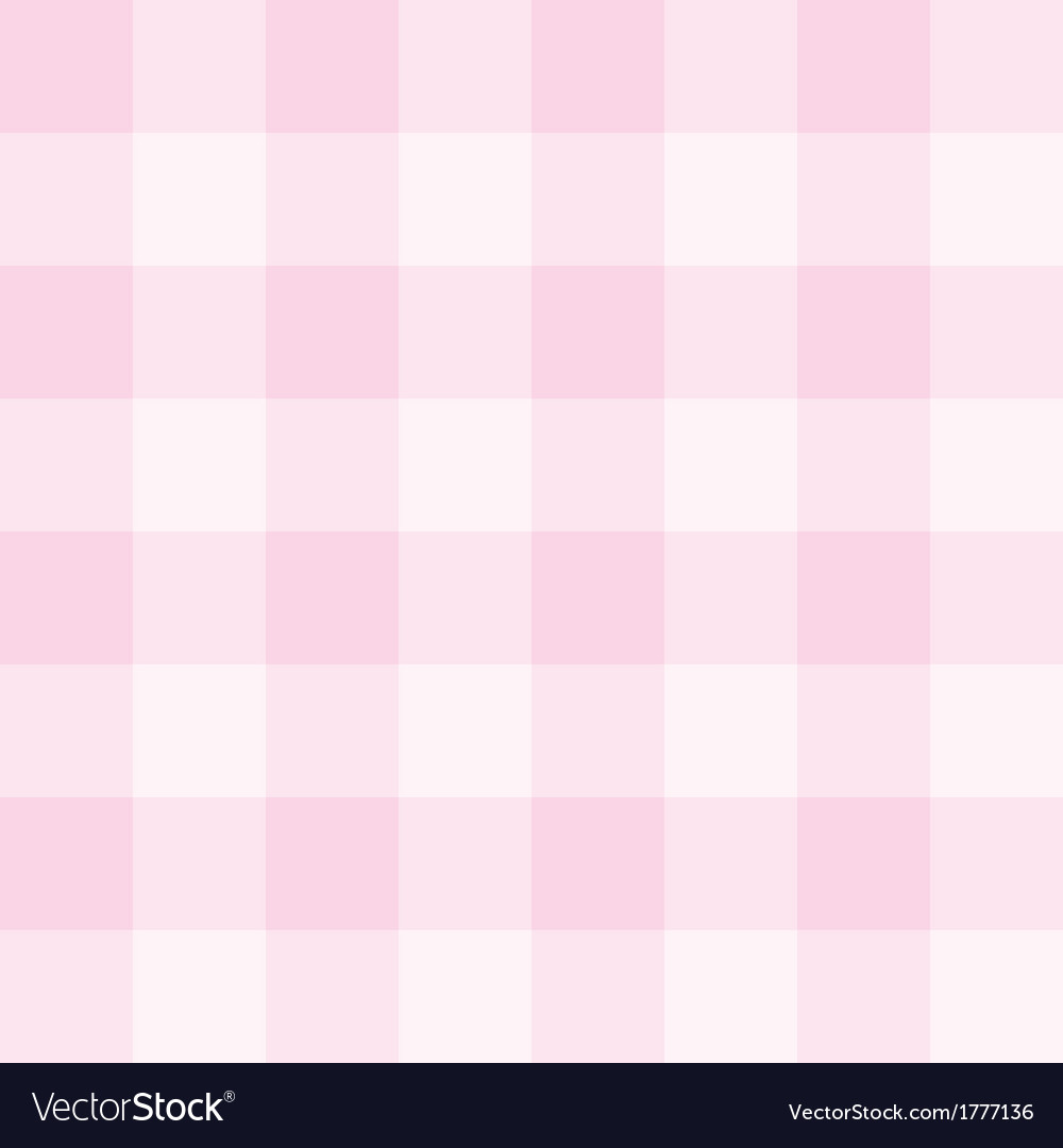 Seamless sweet checkered baby pink background vector image