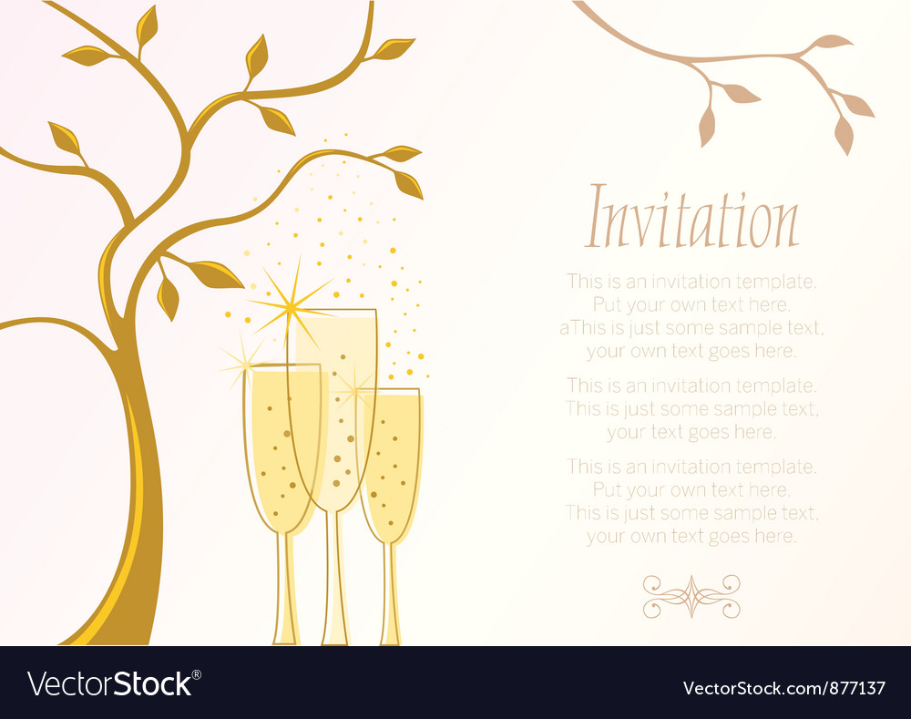 Elegant invitation template vector image