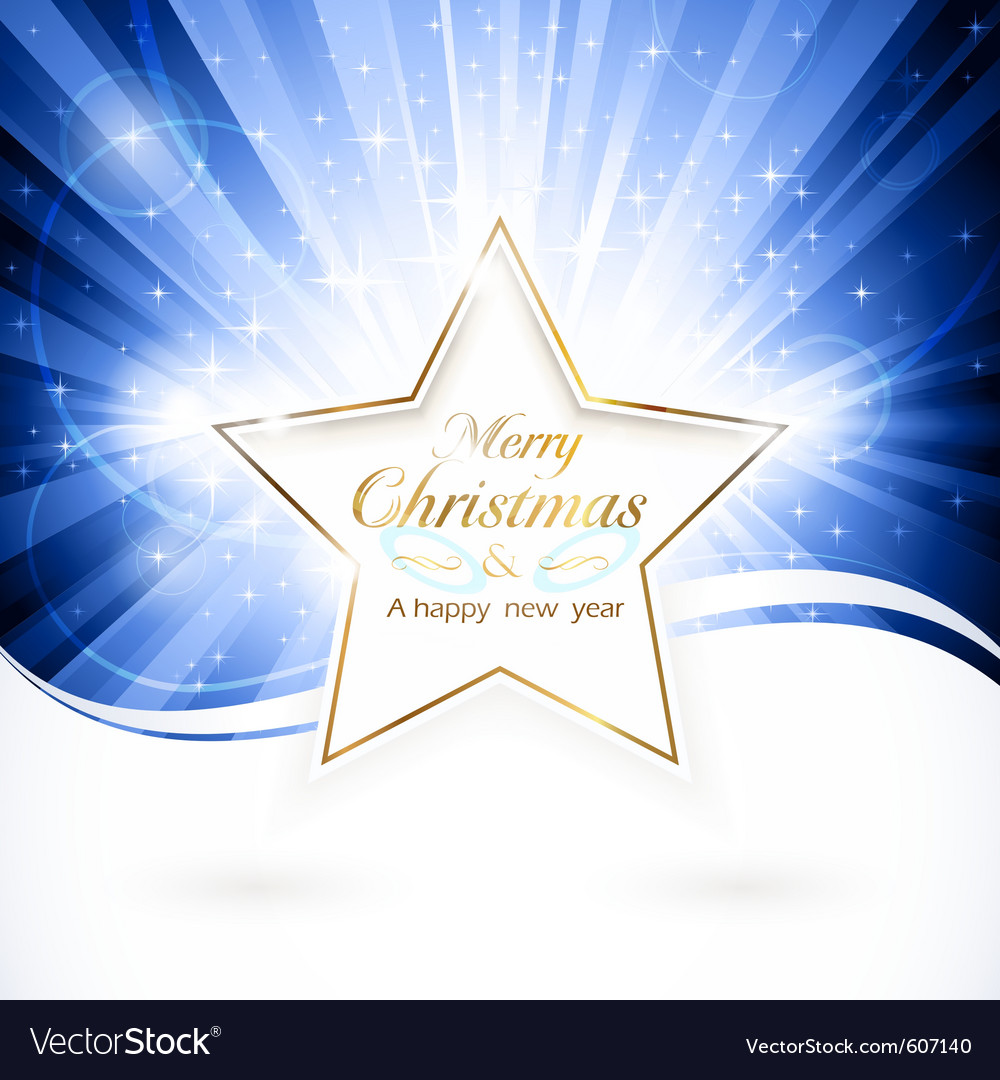 Golden christmas star vector image