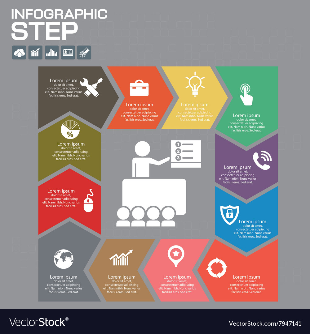 Infographic presentation and chart vector image