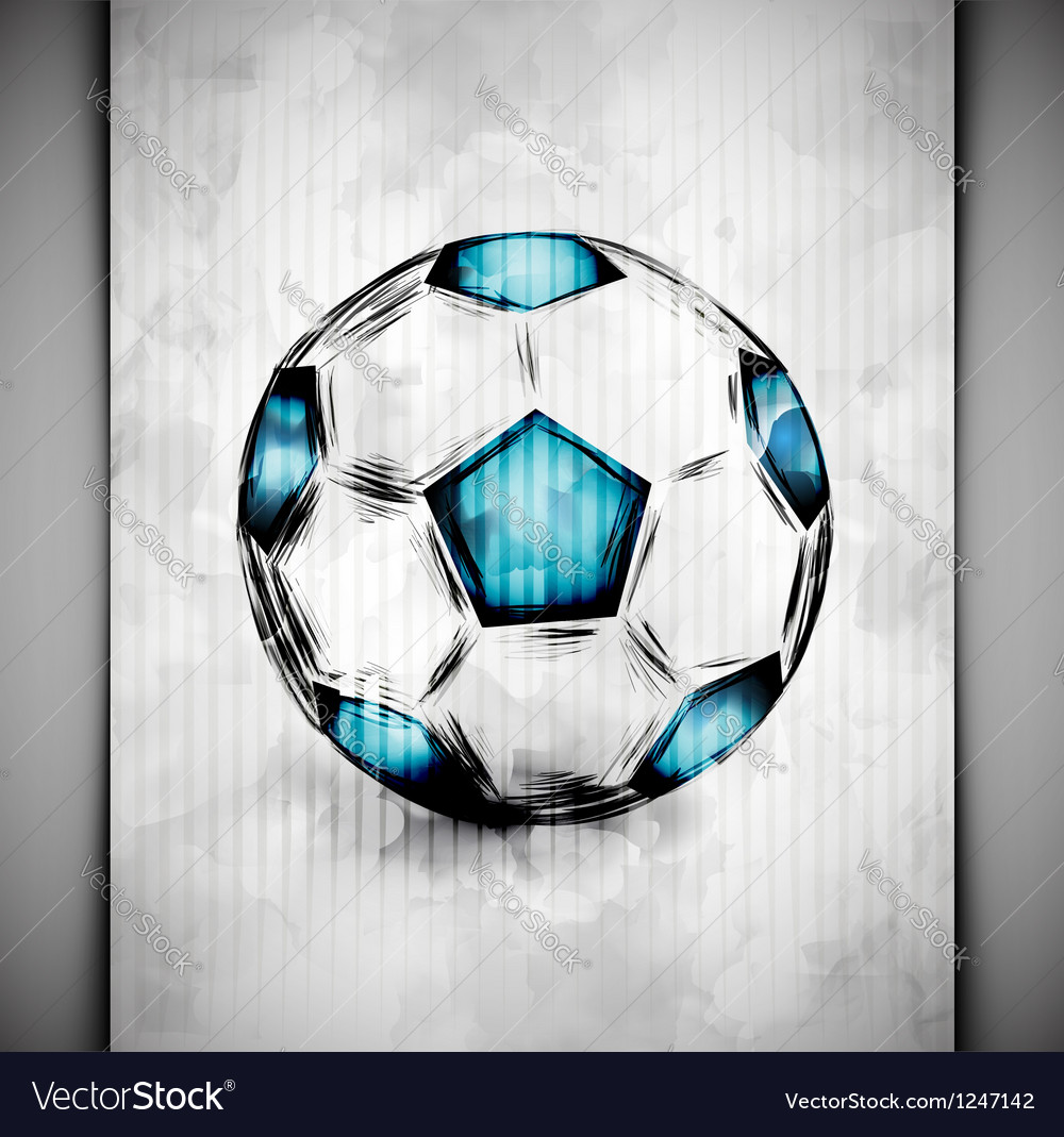 Soccer ball watercolor vector image