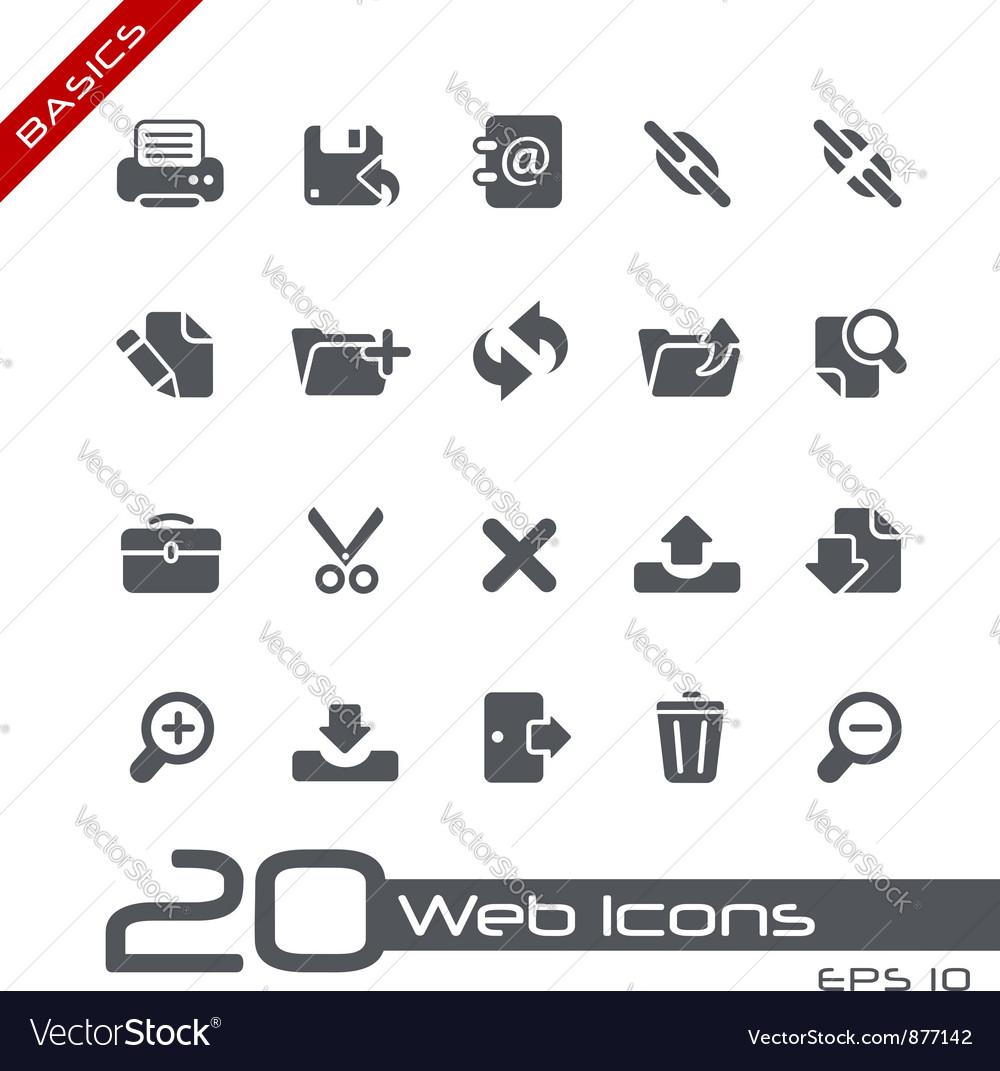 Web Interface Basics Series vector image