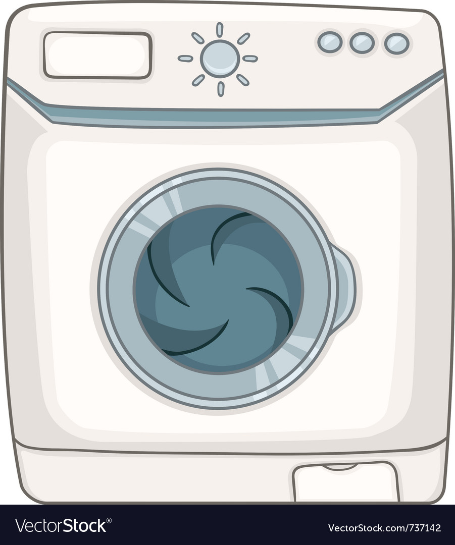 Cartoon Washing Machine ~ Cartoon appliences washing machine royalty free vector image