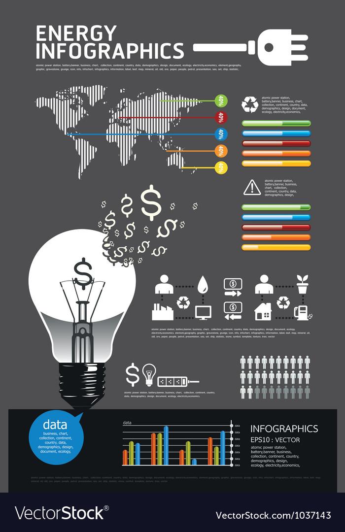 Energy info graphic vector image