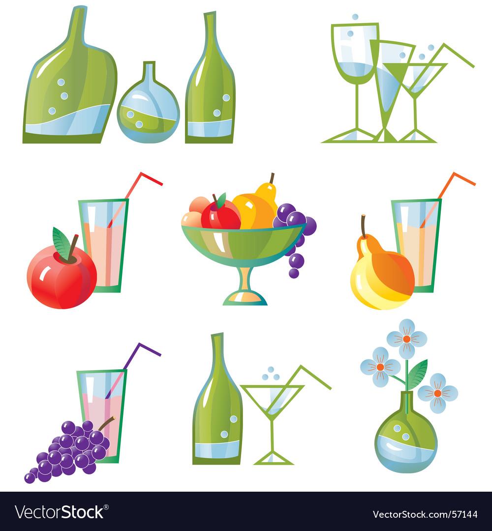 Set of kitchen elements vector image