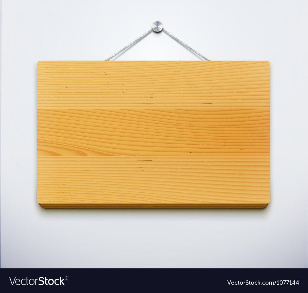 Wooden plate vector image & Wooden plate Royalty Free Vector Image - VectorStock