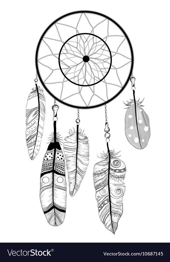 Native american indian dream catcher royalty free vector for Dream catcher graphic