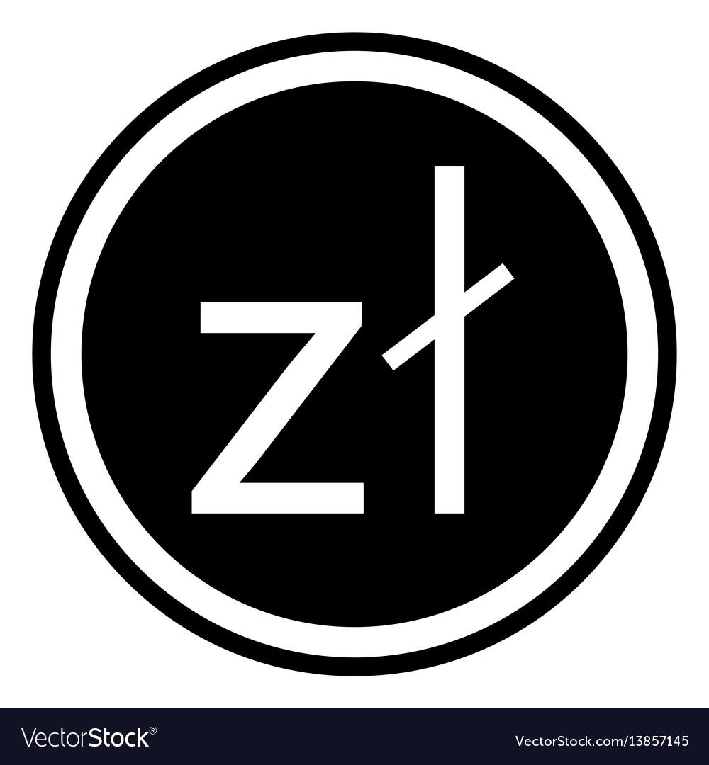 Sign currency poland zloty polish zloty vector image