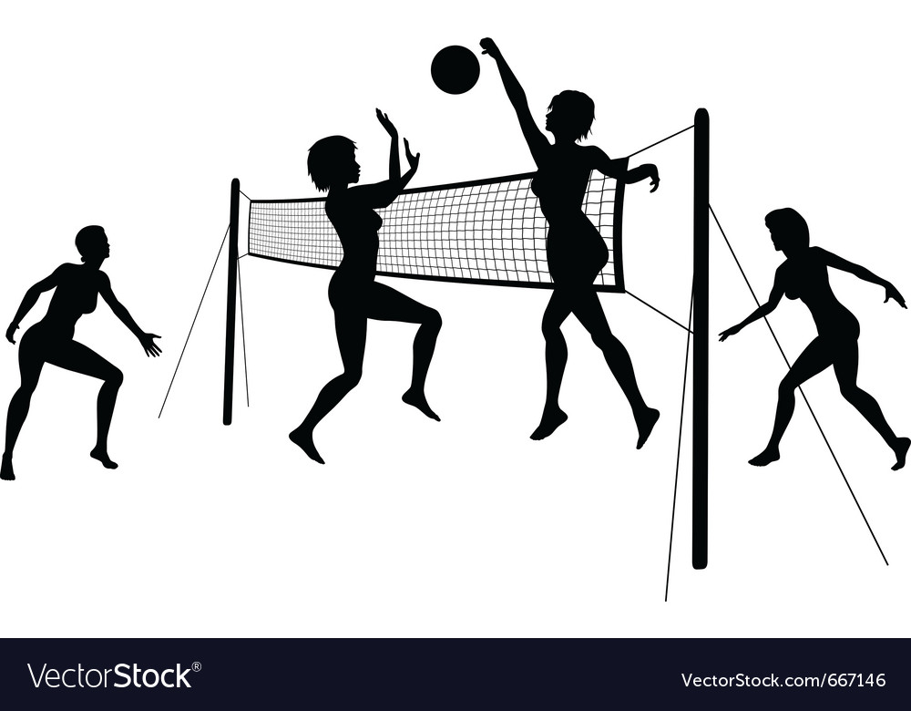 Abstract Design Of A Beach Volleyball Player Vector Image: Beach Volleyball Royalty Free Vector Image