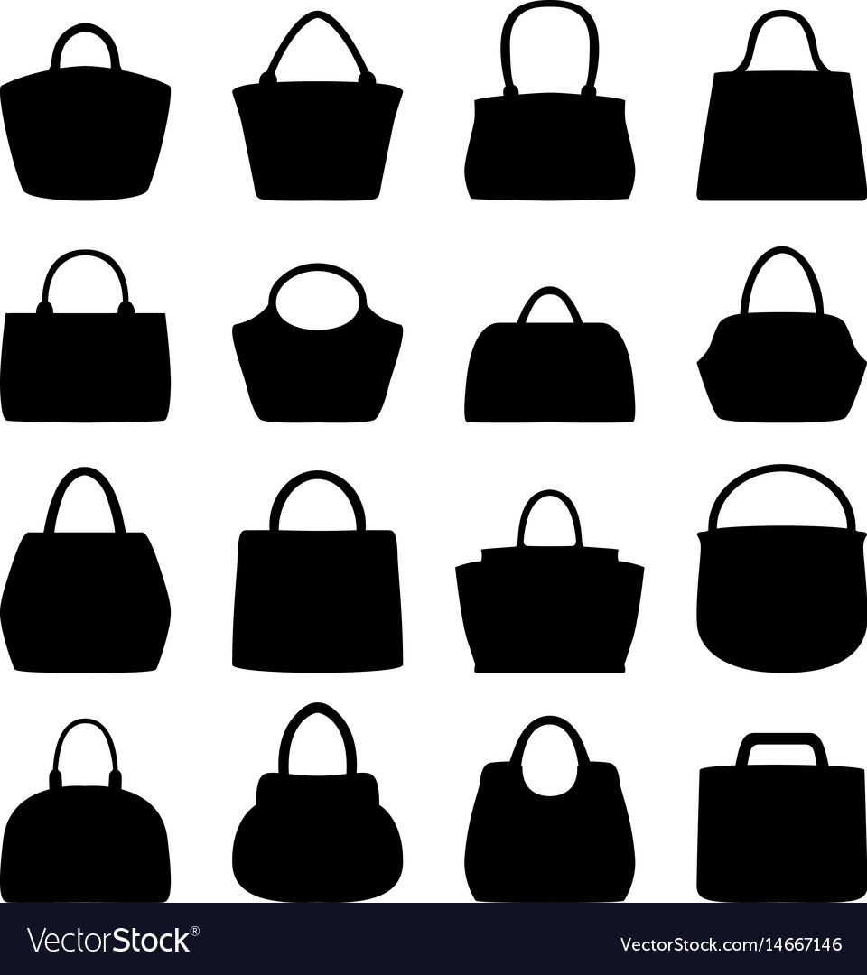 Set of women bags vector image