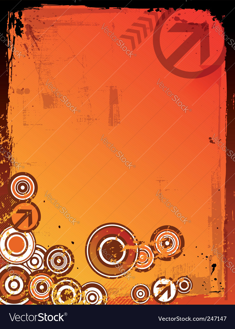 Grunge colorful background vector image