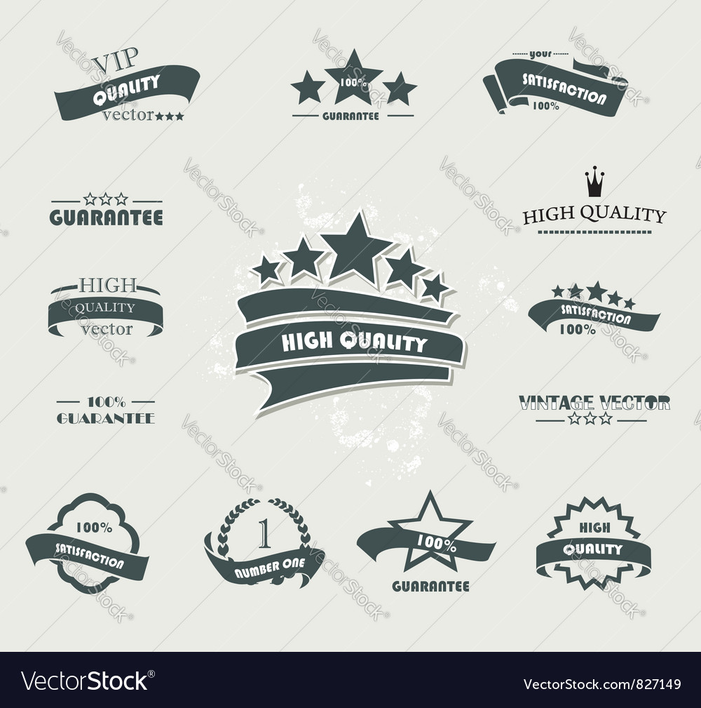 Labels black vector image