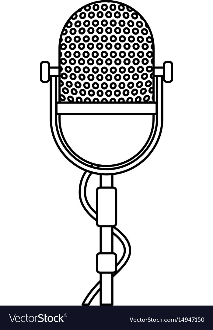 Retro stage microphone vector image
