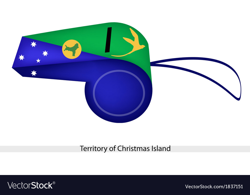 A Whistle of Territory of Christmas Island vector image