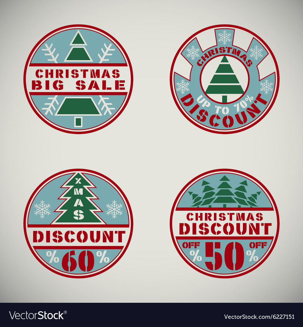 Christmas discount1 vector image