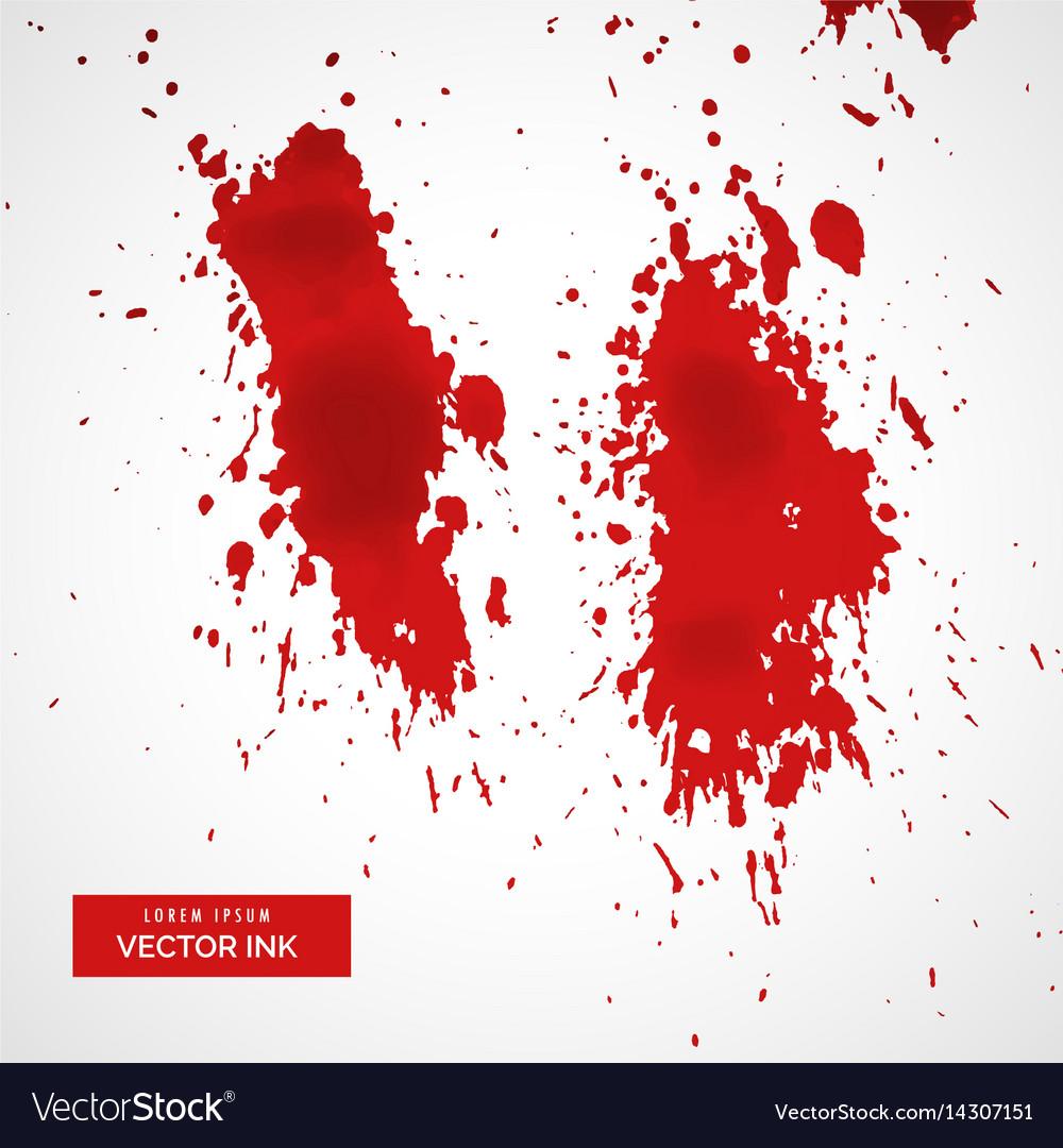 Red blood splatter on white background vector image