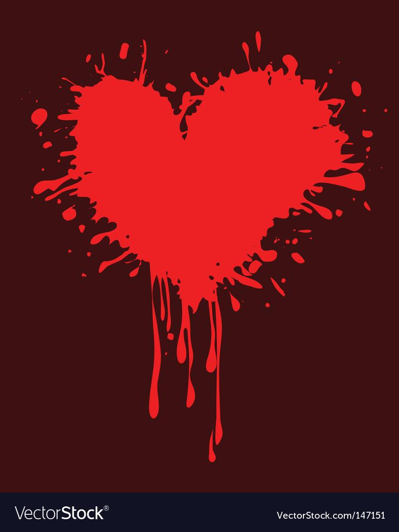Valentine heart grunge illustration vector image