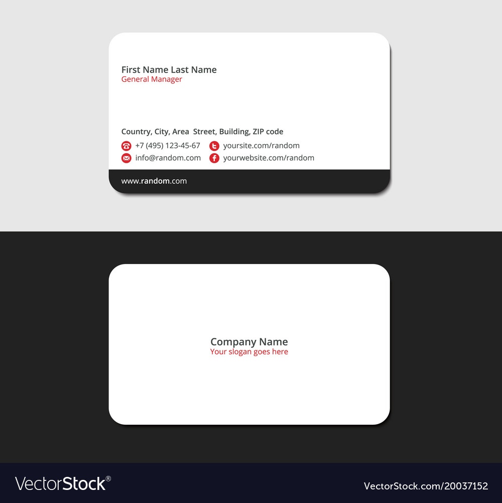 Soft and smooth business card Royalty Free Vector Image