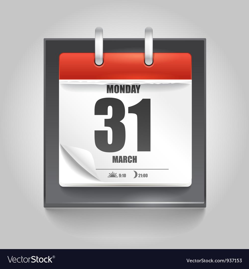 Calendar Pages Vector : Calendar page royalty free vector image vectorstock