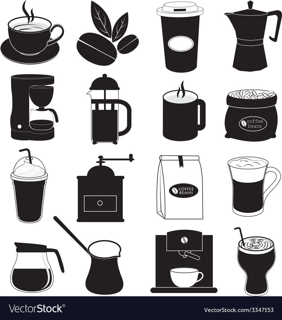 Coffee Icons Design vector image