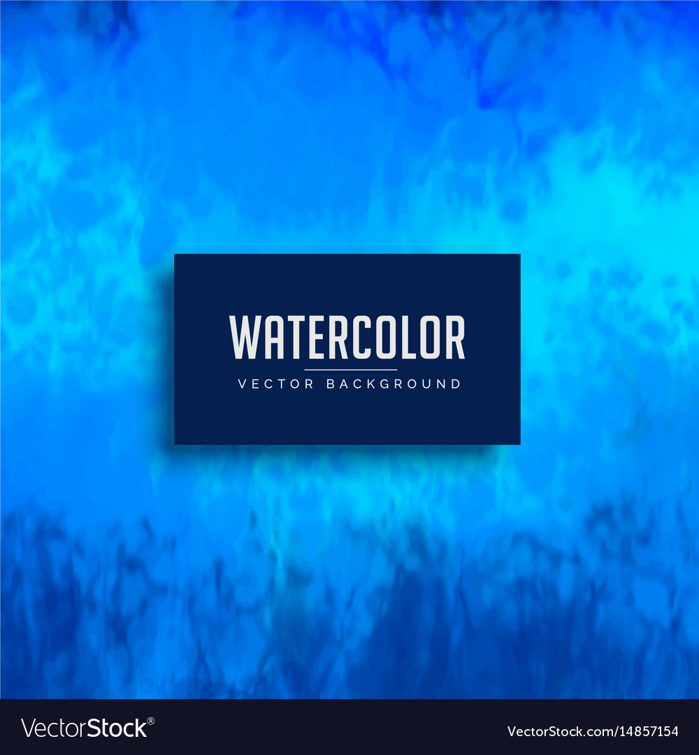Blue watercolor stain background texture vector image