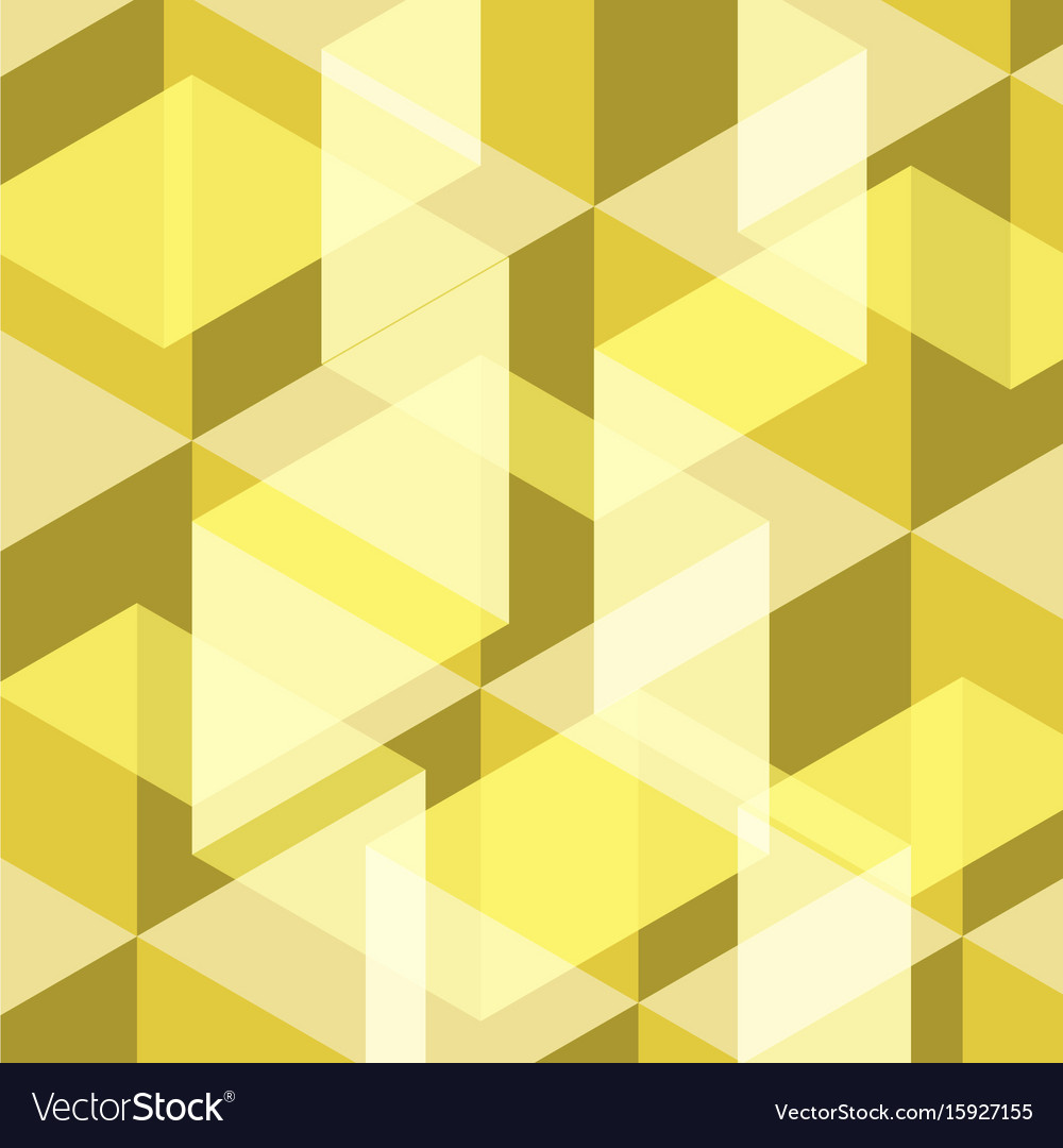 Abstract yellow geometric template background vector image