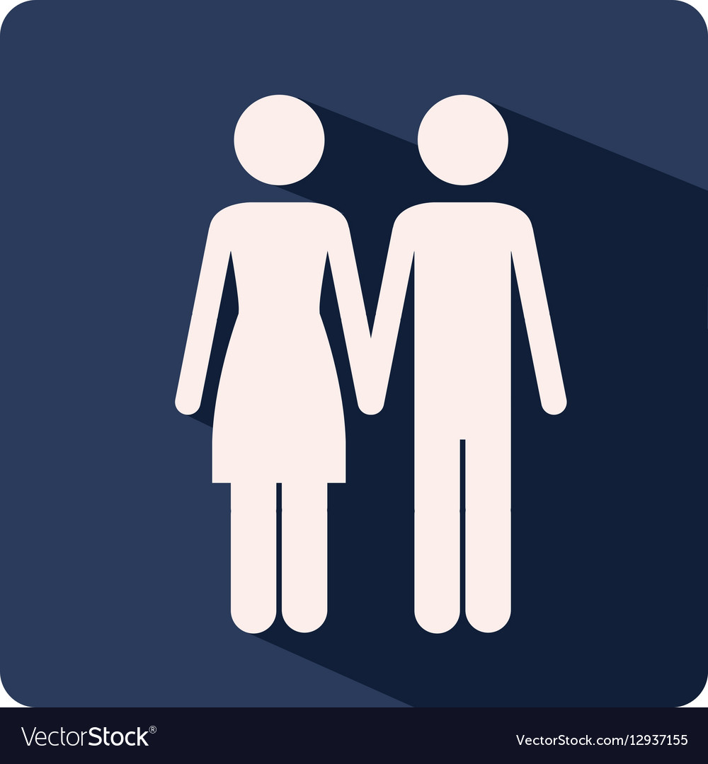 color silhouette frame with couple holding hands vector image