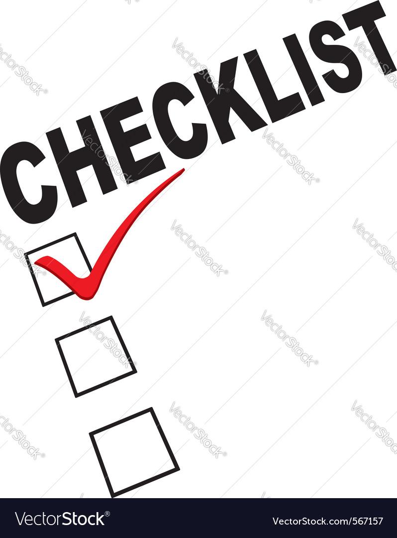 Checklist graphic vector image