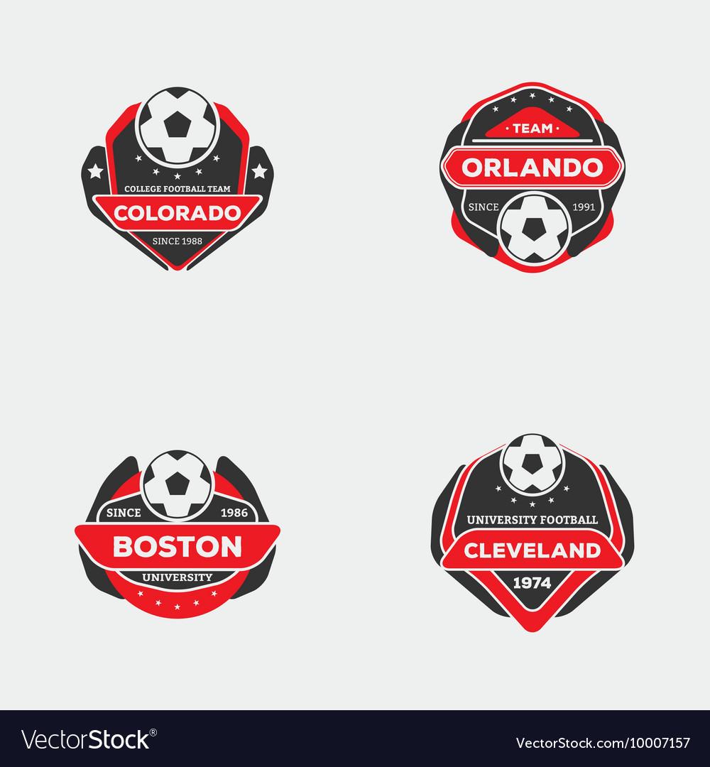 Flat football emblem vector image