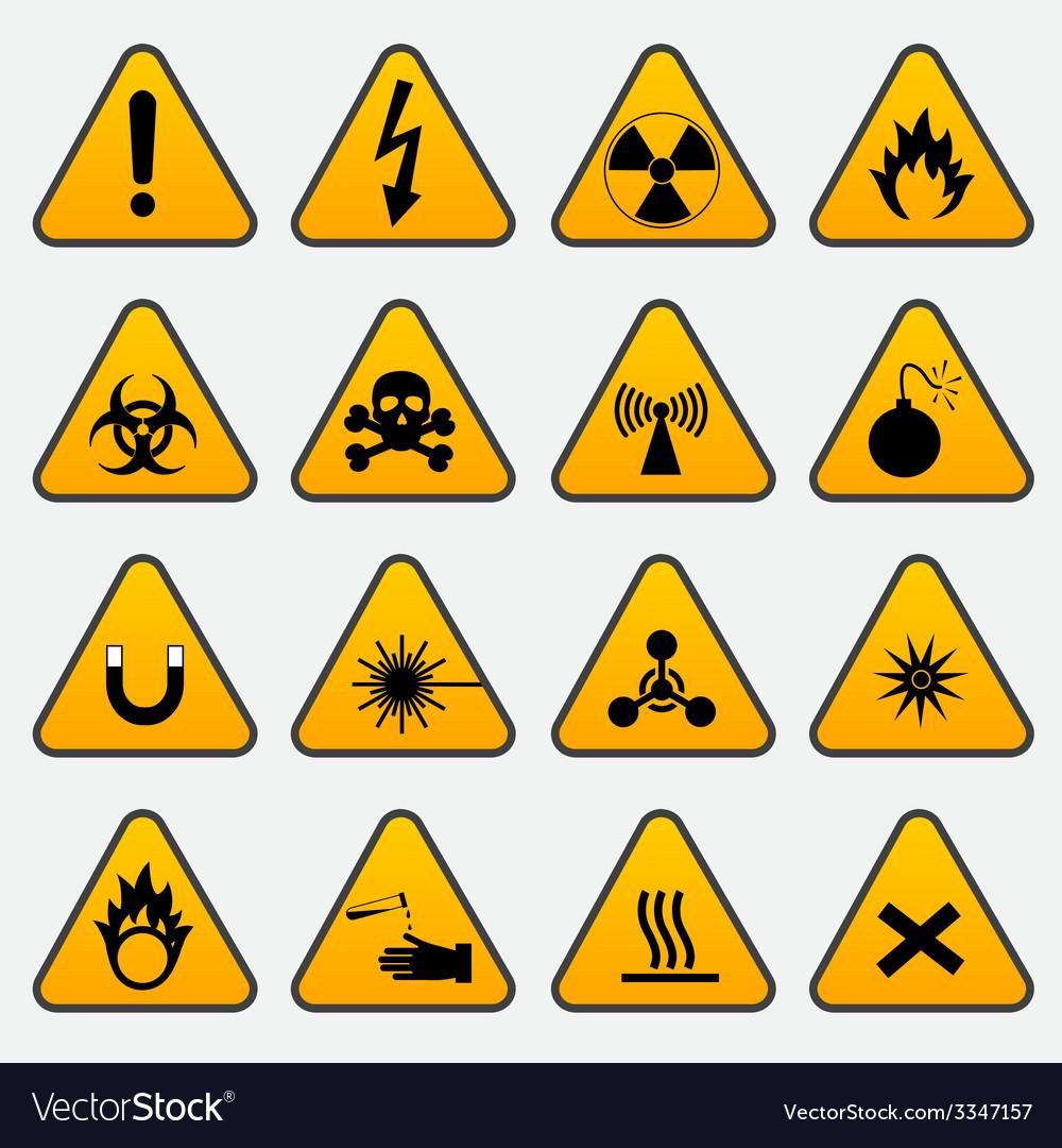 Warning hazard triangle signs royalty free vector image warning hazard triangle signs vector image buycottarizona