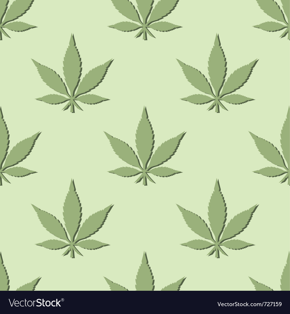 Seamless marijuana leaf pattern vector image