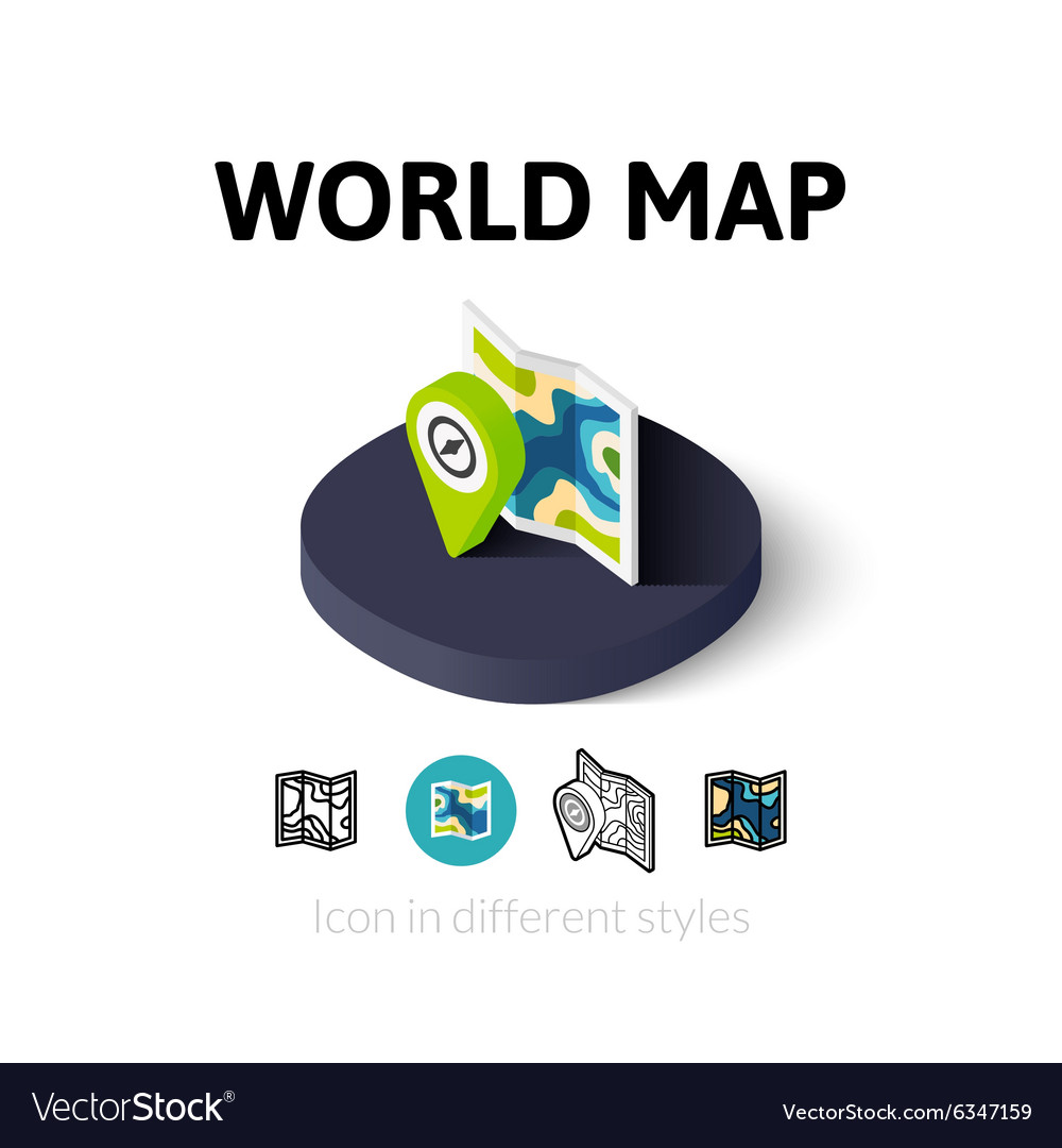 World map icon in different style royalty free vector image world map icon in different style vector image gumiabroncs Choice Image