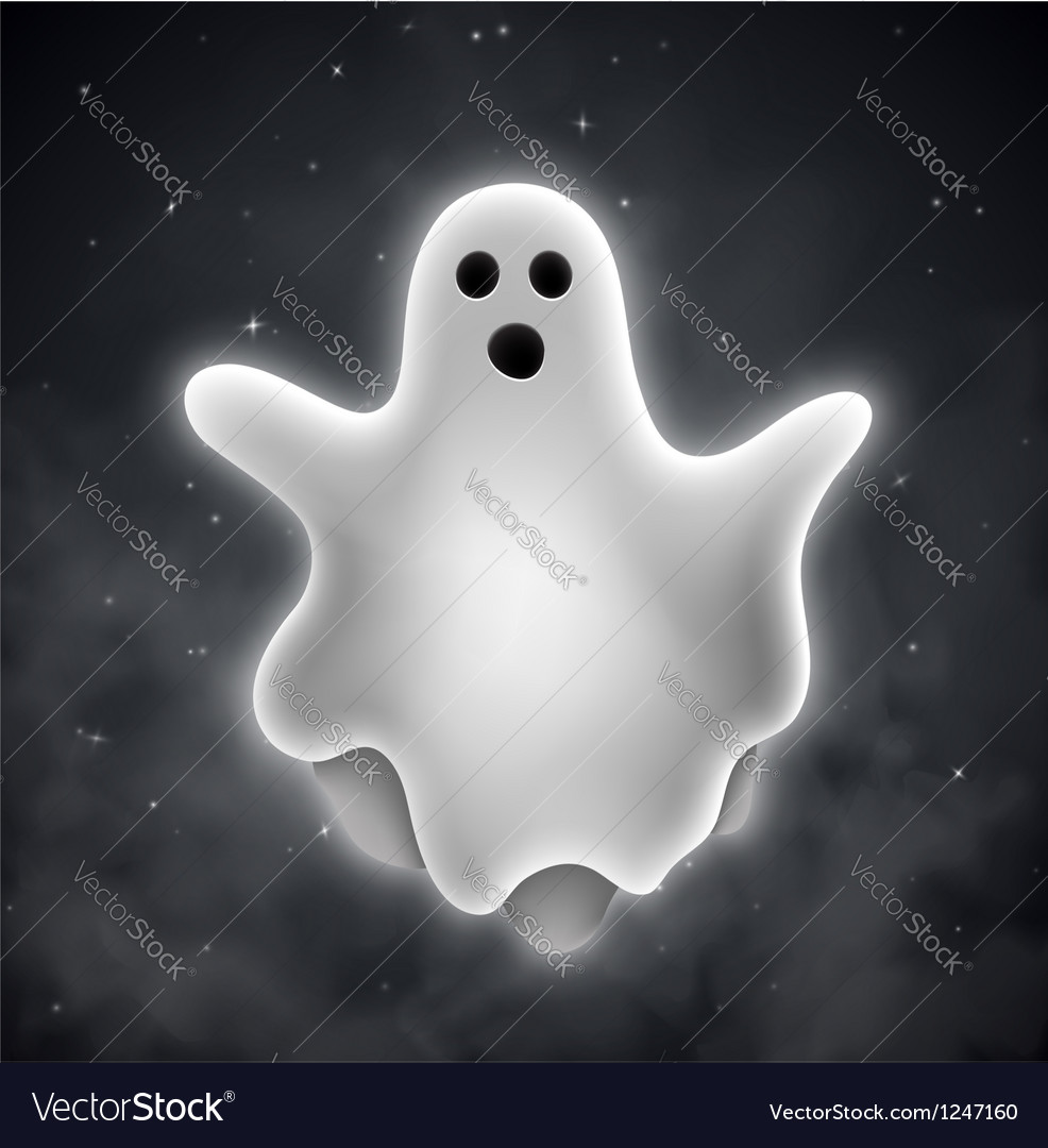 Ghost outdoors vector image