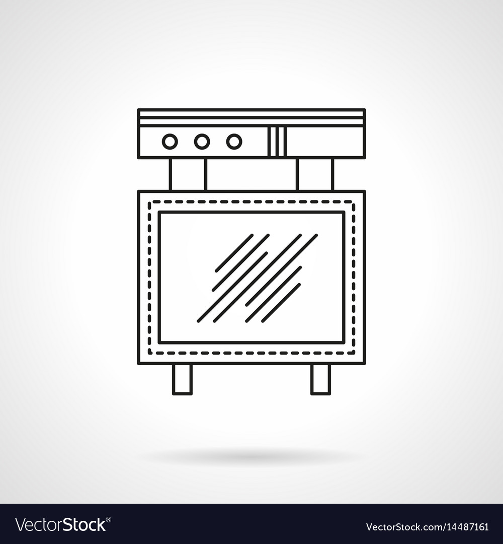 Advert board flat line icon vector image
