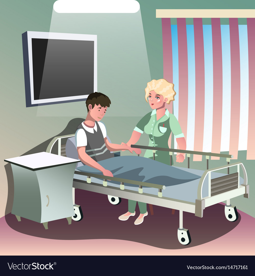 Hospitalization of the patient vector image